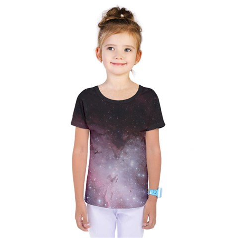 Eagle Nebula Wine Pink And Purple Pastel Stars Astronomy Kids  One Piece Tee by genx
