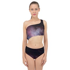 Eagle Nebula Wine Pink And Purple Pastel Stars Astronomy Spliced Up Two Piece Swimsuit by genx