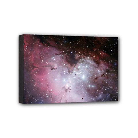 Eagle Nebula Wine Pink And Purple Pastel Stars Astronomy Mini Canvas 6  X 4  (stretched)