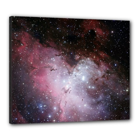Eagle Nebula Wine Pink And Purple Pastel Stars Astronomy Canvas 24  X 20  (stretched) by snek