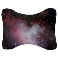 Eagle Nebula Wine Pink And Purple Pastel Stars Astronomy Velour Seat Head Rest Cushion by genx
