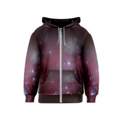 Christmas Tree Cluster Red Stars Nebula Constellation Astronomy Kids  Zipper Hoodie by genx