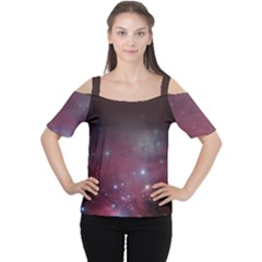 Christmas Tree Cluster Red Stars Nebula Constellation Astronomy Cutout Shoulder Tee by genx