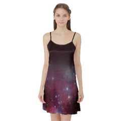 Christmas Tree Cluster Red Stars Nebula Constellation Astronomy Satin Night Slip by snek