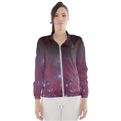 Christmas Tree Cluster Red Stars Nebula Constellation Astronomy Windbreaker (women) by genx