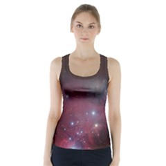 Christmas Tree Cluster Red Stars Nebula Constellation Astronomy Racer Back Sports Top by genx