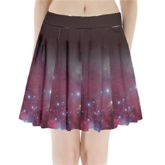 Christmas Tree Cluster Red Stars Nebula Constellation Astronomy Pleated Mini Skirt by snek