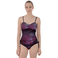 Christmas Tree Cluster Red Stars Nebula Constellation Astronomy Sweetheart Tankini Set by snek