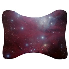 Christmas Tree Cluster Red Stars Nebula Constellation Astronomy Velour Seat Head Rest Cushion by snek