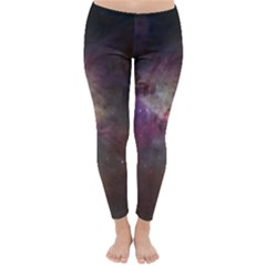 Orion Nebula Star Formation Orange Pink Brown Pastel Constellation Astronomy Classic Winter Leggings by snek