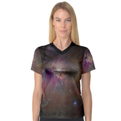 Orion Nebula Star Formation Orange Pink Brown Pastel Constellation Astronomy V Neck Sport Mesh Tee by snek
