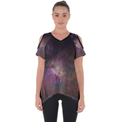 Orion Nebula Star Formation Orange Pink Brown Pastel Constellation Astronomy Cut Out Side Drop Tee by genx