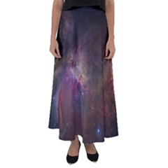 Orion Nebula Star Formation Orange Pink Brown Pastel Constellation Astronomy Flared Maxi Skirt by snek