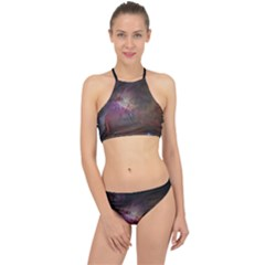 Orion Nebula Star Formation Orange Pink Brown Pastel Constellation Astronomy Racer Front Bikini Set by genx
