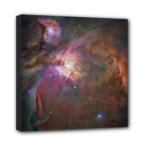 Orion Nebula Star Formation Orange Pink Brown Pastel Constellation Astronomy Mini Canvas 8  X 8  (stretched) by snek