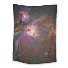 Orion Nebula Star Formation Orange Pink Brown Pastel Constellation Astronomy Medium Tapestry by snek