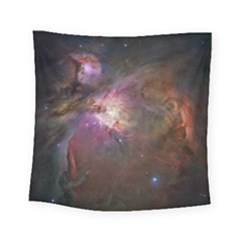 Orion Nebula Star Formation Orange Pink Brown Pastel Constellation Astronomy Square Tapestry (small)