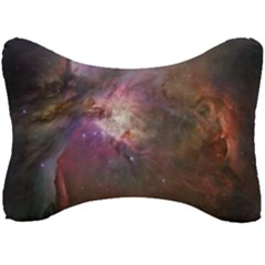 Orion Nebula Star Formation Orange Pink Brown Pastel Constellation Astronomy Seat Head Rest Cushion by snek