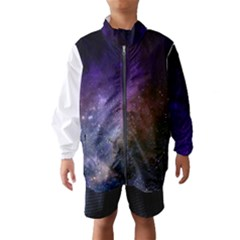Carina Nebula Ngc 3372 The Grand Nebula Pink Purple And Blue With Shiny Stars Astronomy Windbreaker (kids) by snek