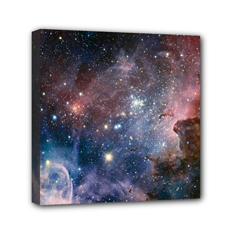 Carina Nebula Ngc 3372 The Grand Nebula Pink Purple And Blue With Shiny Stars Astronomy Mini Canvas 6  X 6  (stretched) by snek