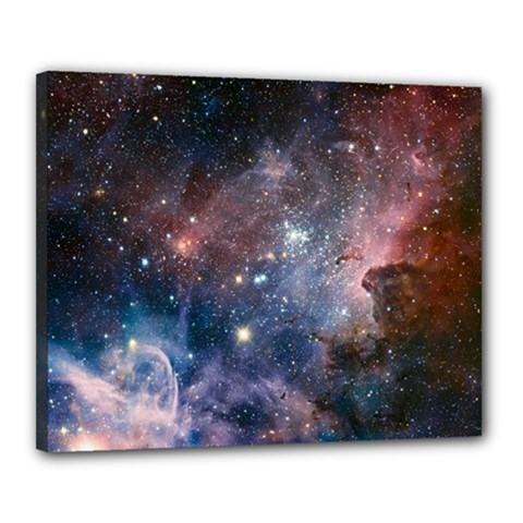 Carina Nebula Ngc 3372 The Grand Nebula Pink Purple And Blue With Shiny Stars Astronomy Canvas 20  X 16  (stretched) by snek