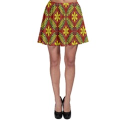 Abstract Floral Pattern Background Skater Skirt
