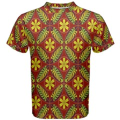 Abstract Floral Pattern Background Men s Cotton Tee