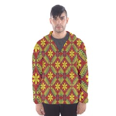 Abstract Floral Pattern Background Hooded Windbreaker (men)