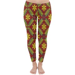 Abstract Floral Pattern Background Classic Winter Leggings