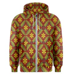 Abstract Floral Pattern Background Men s Zipper Hoodie