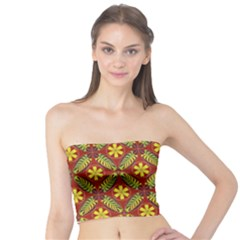 Abstract Floral Pattern Background Tube Top