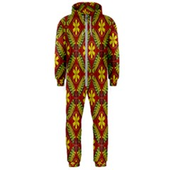 Abstract Floral Pattern Background Hooded Jumpsuit (men)