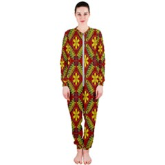 Abstract Floral Pattern Background Onepiece Jumpsuit (ladies)