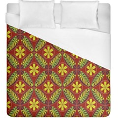Abstract Floral Pattern Background Duvet Cover (king Size) by Alisyart