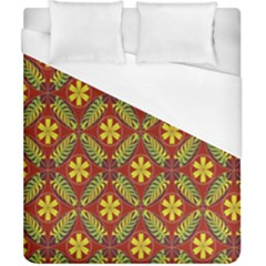 Abstract Floral Pattern Background Duvet Cover (california King Size)
