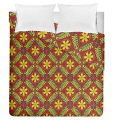 Abstract Floral Pattern Background Duvet Cover Double Side (queen Size)