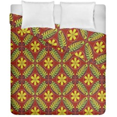 Abstract Floral Pattern Background Duvet Cover Double Side (california King Size)