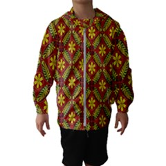 Abstract Floral Pattern Background Hooded Windbreaker (kids)