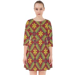 Abstract Floral Pattern Background Smock Dress