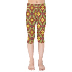 Abstract Floral Pattern Background Kids  Capri Leggings
