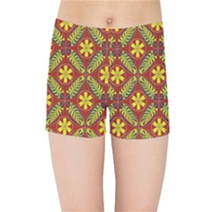 Abstract Floral Pattern Background Kids Sports Shorts