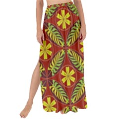 Abstract Floral Pattern Background Maxi Chiffon Tie Up Sarong