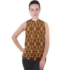 Abstract Floral Pattern Background Sleeveless Top