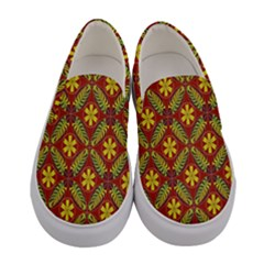 Abstract Floral Pattern Background Women s Canvas Slip Ons