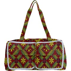 Abstract Floral Pattern Background Multi Function Bag