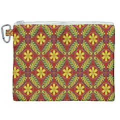 Abstract Floral Pattern Background Canvas Cosmetic Bag (xxl)