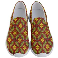 Abstract Floral Pattern Background Men s Lightweight Slip Ons