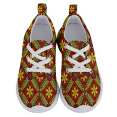 Abstract Floral Pattern Background Running Shoes