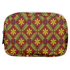 Abstract Floral Pattern Background Make Up Pouch (small)