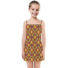 Abstract Floral Pattern Background Kids Summer Sun Dress